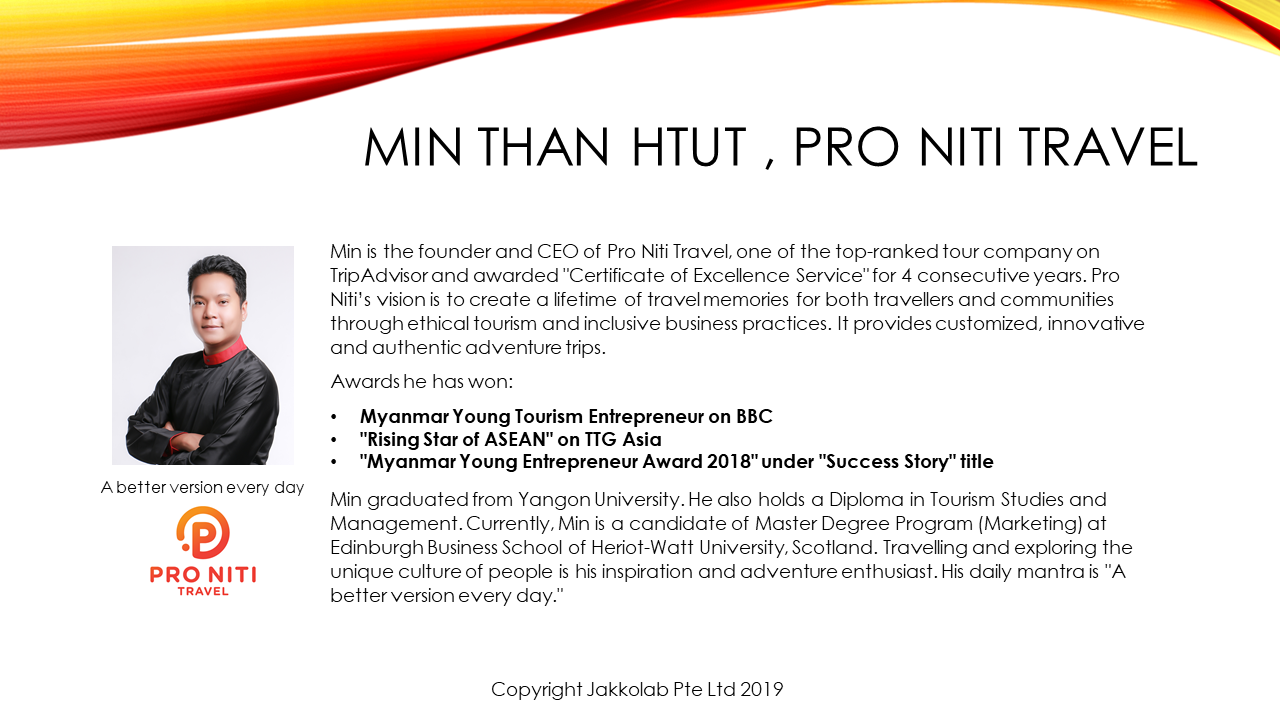 min than htut pro niti travel