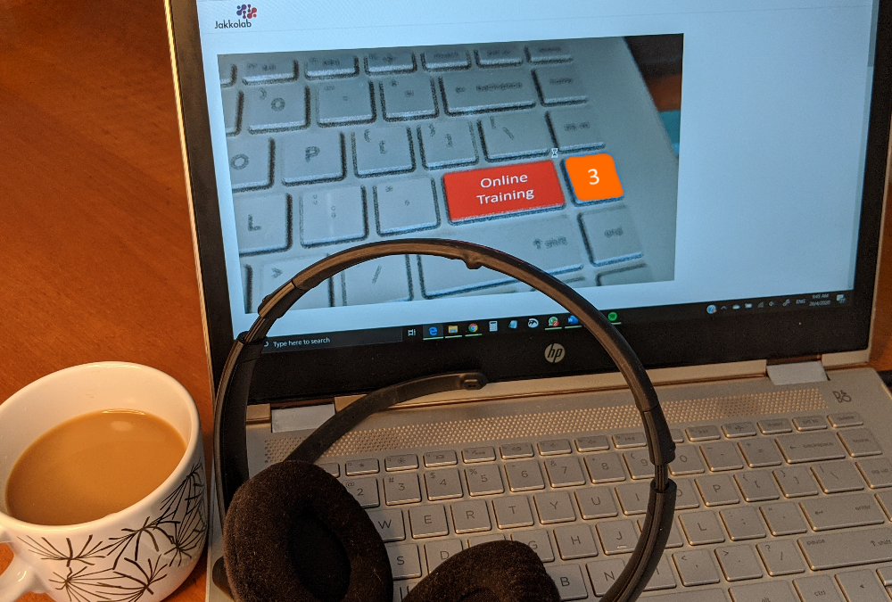online training course work from home coffee headset