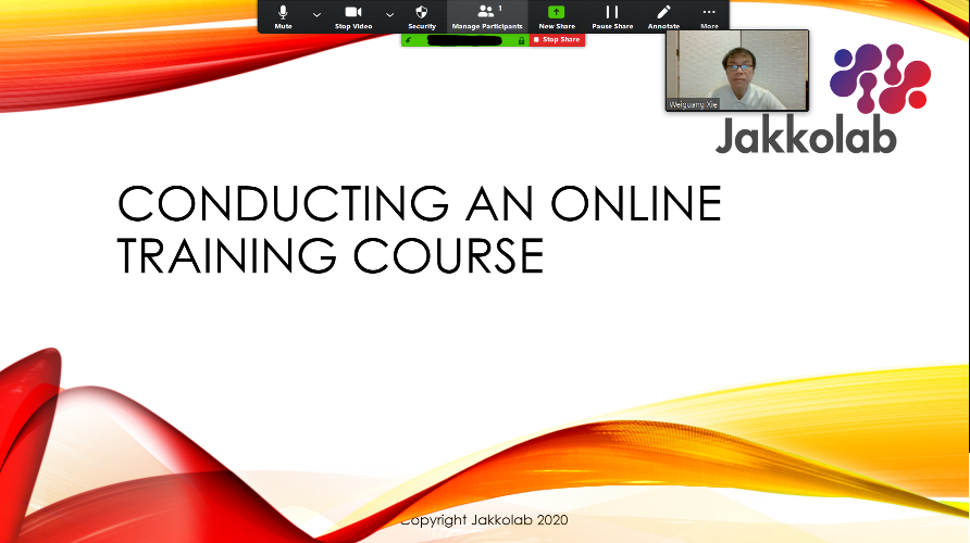 online training course zoom skype webex